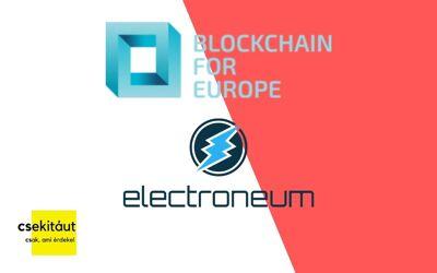 A Blockchain For Europe 10. tagja az Electroneum